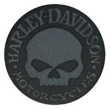 Harley-Davidson Black Willie G Skull Emblem Patch, LG 8 x 8 inch EM1048804