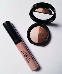 Laura Geller Sunstone/Bewitching Bronze Eyeshadow & Sugar Cookie Lip Gloss New