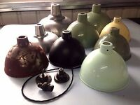 Industrial Vintage Pendant Ceiling Hanging Light Shade Various sizes / fixings