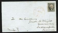 10c Sc.2,  XF copy on 1850 cover, w. PF cert; Jos.A.Wright's ALS note inside!