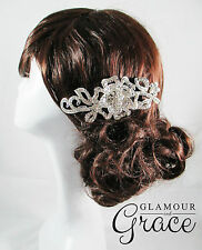 Olivia Vintage wedding silver bridal comb hair accessories headpiece RRP $100