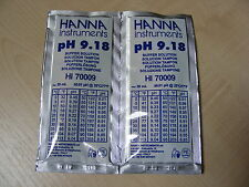 2  X HANNA PH METER BUFFER CALIBRATION SOLUTION SACHETS  HI 70009  9.18 pH