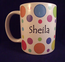 Personalised Dotty - Coffee Mug - Thank You Teacher - Birthday - Xmas - Gift