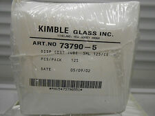 KIMBLE GLASS CO. 5mL DISPOSABLE CENTRIFUGE TUBE, ART # 73790-5-SLD