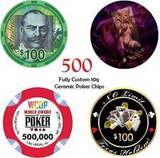 500 x 10g CUSTOM MADE CERAMIC POKER CHIPS