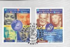 1998 DROITS D L HOMME   N° 3208 ET 3209 OBLITÉRE CACHET ROND