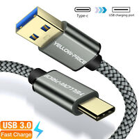 Fast Charging Cable Cord USB 3.0 Type-C 3.1 Nylon Braided Data Sync Charger lot