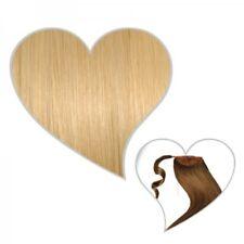 queue de cheval Cheveux véritables Postiche 50 cm blond doré brillant #24 TRESSE