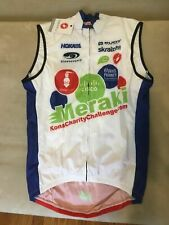 Castelli Wind Vest Covered FZ Mens Large L Cycling triathlon white red blue