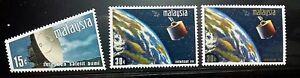 RARE MALAYSIA 1970 SATELLITE EARTH STATION SG 61 - 63 MNH OG FRESH