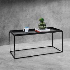 B-WARE Couchtisch Schwarz Metall Tisch Beistelltisch Wohnzimmertisch Sofatisch