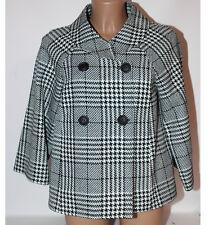 Cappottino giacca Kartika quadri bianco nero doppio petto 42 donna cappotto capo