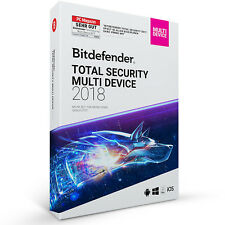 Bitdefender Total Security 2018 Multi-Device 10 Geräte (PC) / 1 Jahr + VPN