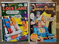 "Lois Lane #82 + Jimmy Olsen #130 ""Superman's Pals"" 2-Issue Silver Age DC Lot!"