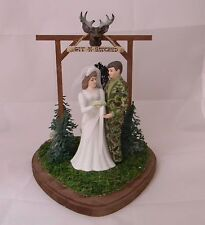 Wedding Party Reception Git n Hitched Camo Deer Hunter Hunting Cake Topper