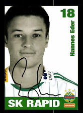 Hannes Eder Autogrammkarte Rapid Wien 2008-09 Original Sign+159245