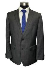 Marc Anthony Mens Gray Wool Modern Fit Sport Coat Blazer 44R
