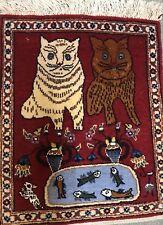 AN AWESOME PERSIAN SAROUK CAT LOVERS RUG