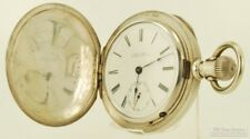Rockford transitional model pocket watch, 18 Size, 15 Jewels, coin silver HC