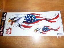 LETHAL THREAT EAGLE FLAG Motorcycle Bike /Helmet Stickers LT 10403
