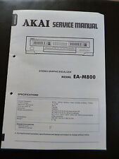 Original Service Manual  Akai Stereo Graphic Equalizer EA-M800