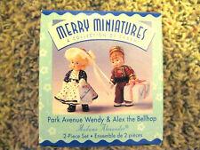 1999 Hallmark Merry Miniature Madame Alex Park Avenue Wendy & Alex the Bellhop