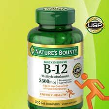 Nature's Bounty B-12 ( Methylcobalamin ), 2500 mcg, 300 Quick Dissolve Tablets