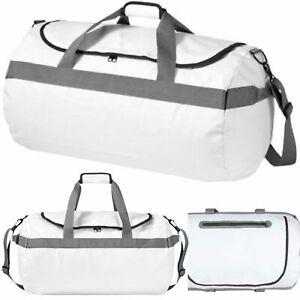 Avenue North Sea Waterproof Holdall White Duffel Bag Travelling Luggage Light