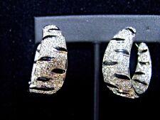Hoop Earrings Diamond and Enamel
