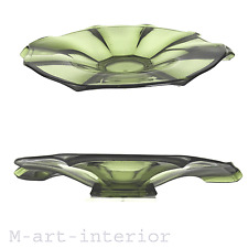 Modernist French Art Déco Glass Bowl Centerpiece Glas Schale France 1920 1930
