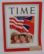 "TIME Magazine May 14 1945 ""The Big Three"" End of World War II ""Job Done"""