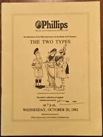 'THE TWO TYPES'~'JON': PHILLIPS AUCTION CATALOGUE:WAR TIME CARTOONS BY 'JON '