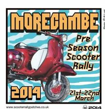 2014MORECAMBE  SCOOTER RALLIES RUN  PATCH MODS SKINHEADS not PADDY SMITH