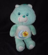 "18"" BIG VINTAGE 1984 GREEN BEDTIME MOON CARE BEARS STUFFED ANIMAL PLUSH TOY DOLL"