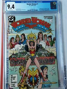WONDER WOMAN #1 CGC 9.4 1st Themyscira, Ares - new origin BEST G.PEREZ COVER !!