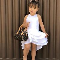 Sweet Toddler Baby Floral Girl Sleeveless Backless Dress Party Princess Sundress