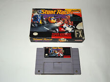 STUNT RACE FX in box snes super nintendo NTSC game import