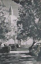 Postcard Wilhelmina Park Temple Emanuel in Backgrond Curacao Nwi Caribbean