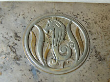 Antique Silvercrest Arts & Crafts Deco Metal Seahorse Cigarette Box Trinket Case