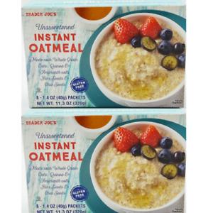 Trader Joe's Unsweetened Instant Oatmeal Gluten Free 11.3 OZ Box  2 Pack
