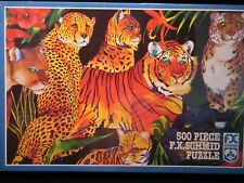 "New Listing""Let Them Remain"" (Big Cats) F.X. Schmid 500pc puzzle"