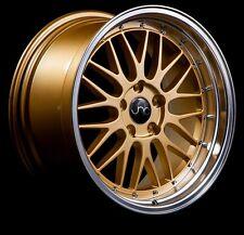 18x8/9 JNC 005 5x120 ET34 Gold Machined Lip Staggered Rims BMW E85 E89 Z4 Z3