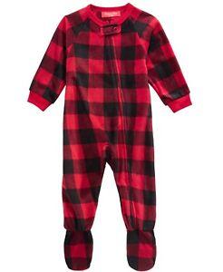 Family Pajamas Matching Baby Buffalo-Check Footed Pajamas