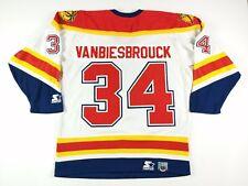 VTG Starter Mens John Vanbiesbrouck Florida Panthers Authentic Jersey Med White