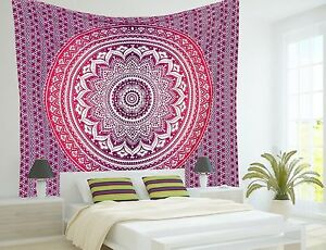 Wholesale Lot 10 PC Indian Mandala Tapestry Twin Wall Hanging Bedding Bedspread