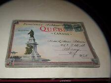 VINTAGE SOUVENIR FOLDER QUEBEC CANADA postcard
