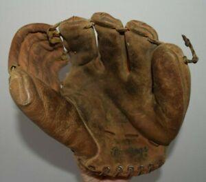 Vintage Rawlings Mickey Mantle MM9 Triple Crown Winner Baseball Glove RH ROUGH!