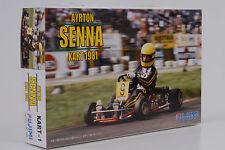 1981 Ayrton Senna Kart 1 #9 + Figur Bausatz Kit 1:20 Fujimi 091372