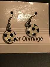 One Pair Ohrringe Black/White Ball Earring Made In China