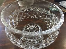 """VTG WATERFORD CUT CRYSTAL FOOTED BOWL COMERAGH 7 1/2 """" RIM """" 5 """"TALL LARGE"""